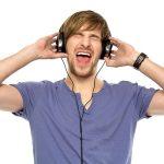 11633947 - young man wearing headphones