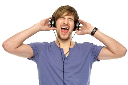 11633947 - young man wearing headphones