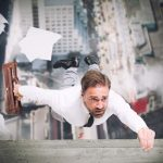 30712713 - businessman is going to fall from a skyscraper